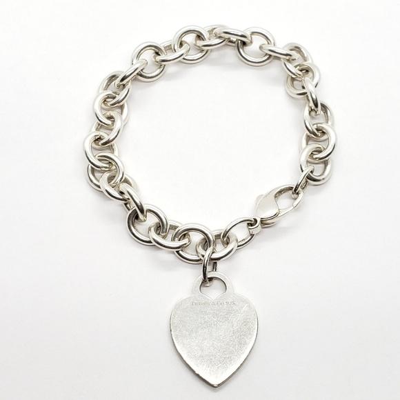 7084446ec Tiffany & Co. Jewelry   Tiffany Co 925 Silver 775 Heart 9mm Bracelet ...